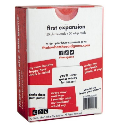 That's What She Said Expansion Board Game