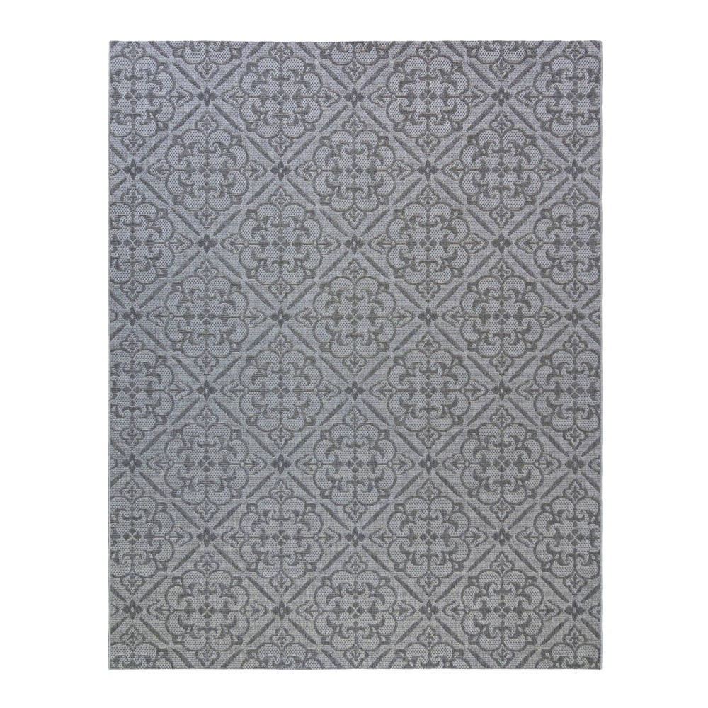 Image of 5'x7' Clifton Outdoor Rug Silver - Studio by Brown Jordan