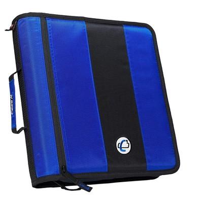 Case It Case-it Classic 2 3-Ring Zipper Binder, Blue D251