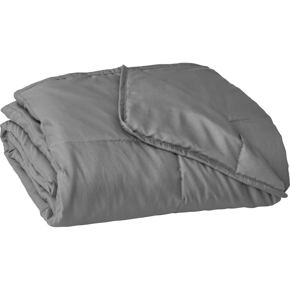 "Image of ""48"""" x 72"""" Essentials 12lbs Weighted Blanket Gray - Tranquility"""