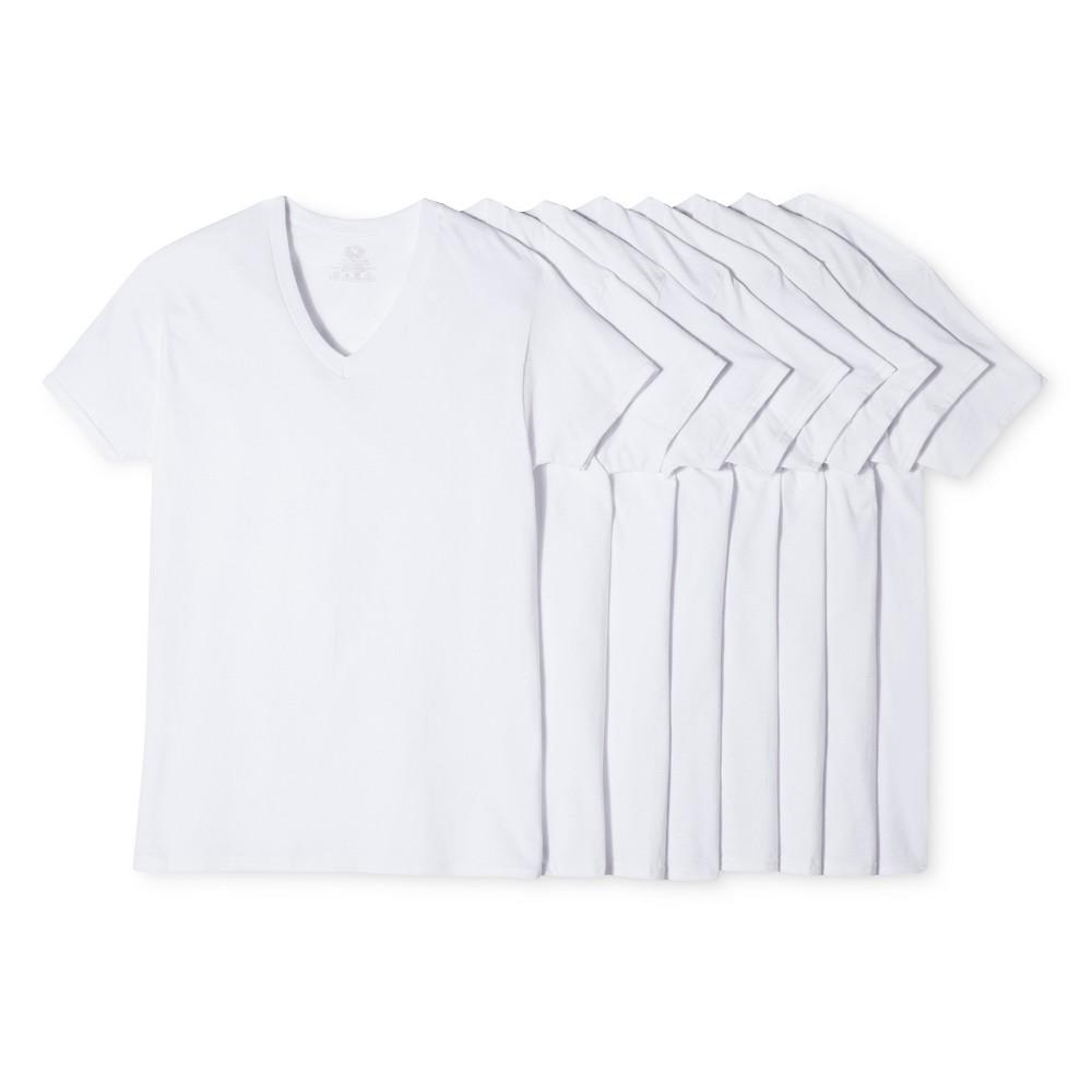 Fruit Of The Loom Men's 6+2pk V-Neck Undershirt - White M