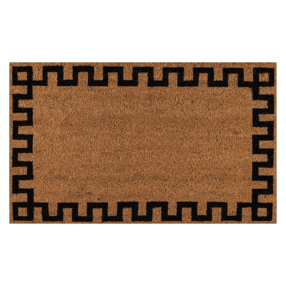 "Image of ""1'6""""X2'6"""" Geometric Woven Door Mat Natural - Erin Gates By Momeni"""