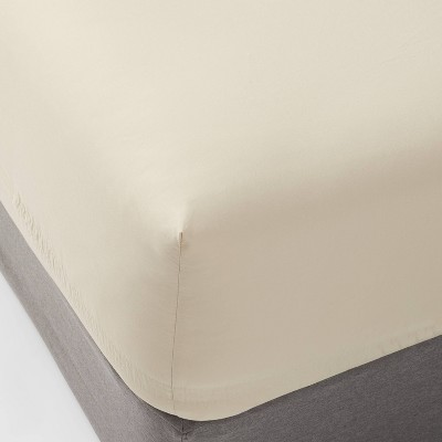 King 300 Thread Count Ultra Soft Fitted Sheet True Khaki - Threshold™