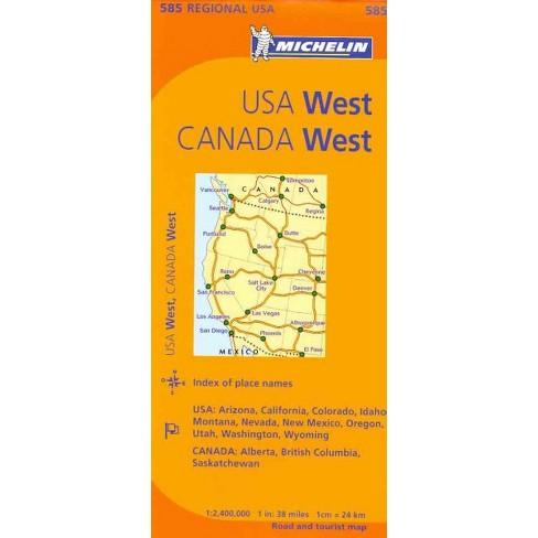 Map Of Arizona Nevada And California.Michelin U S A West Canada West Usa Arizona California