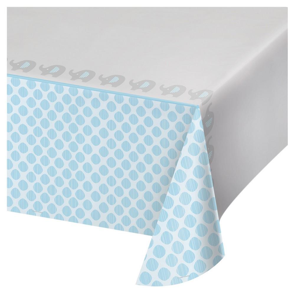 Little Peanut Boy Elephant Plastic Tablecloth, Blue