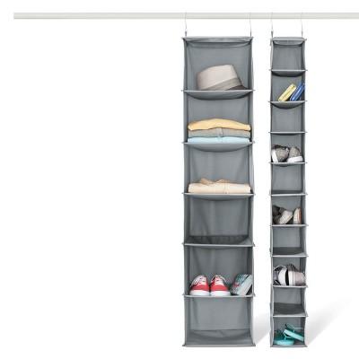 10 Shelf Hanging Shoe Storage Organizer U2013 Gray   Room Essentials™ : Target