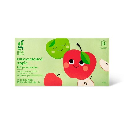 Applesauce Pouches Unsweetened - 12ct - Good & Gather™