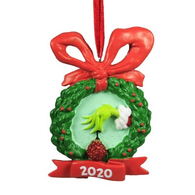 """Holiday Ornament 3.75"""" Grinch 2020 Dated Ornament Dr. Seuss  -  Tree Ornaments"""