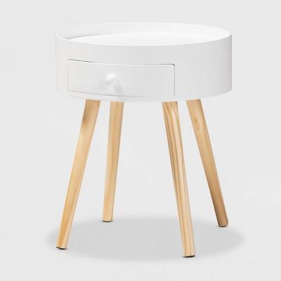 Jessen 1 - Drawer Wood Nightstand - Baxton Studio