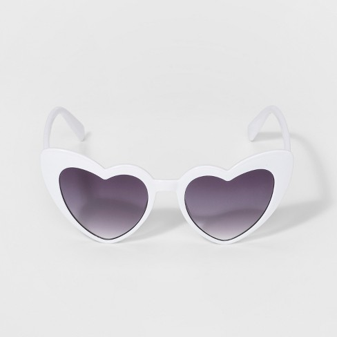 1996dbe80441 Girls' Heart Sunglasses - Art Class™ White : Target