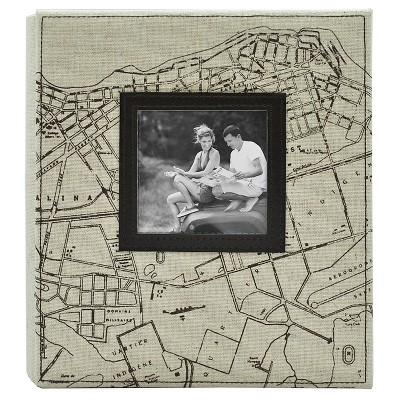 Map Photo Album - Holds Two 4 x6  Photos per Page