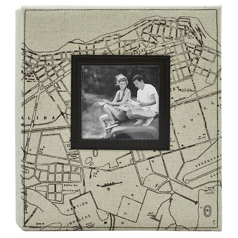 """Map Photo Album - Holds Two 4""""x6"""" Photos per Page - image 1 of 3"""