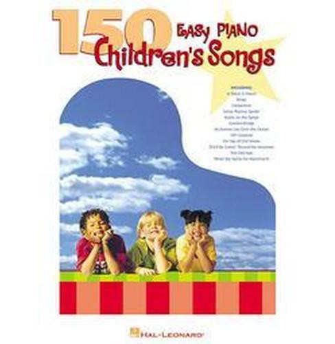150 Easy Piano Children's Songs (Paperback) - image 1 of 1