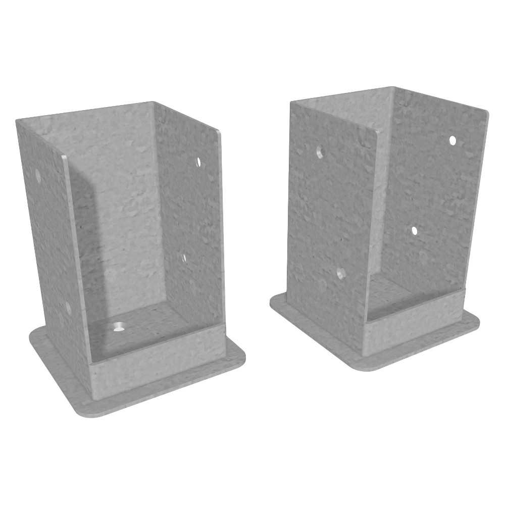 Image of 6' Bolt Down Brackets - New England Arbors, Gray