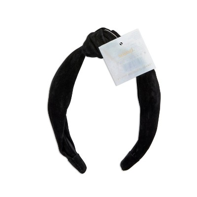 scunci Collection Knotted Suede Headband - Black