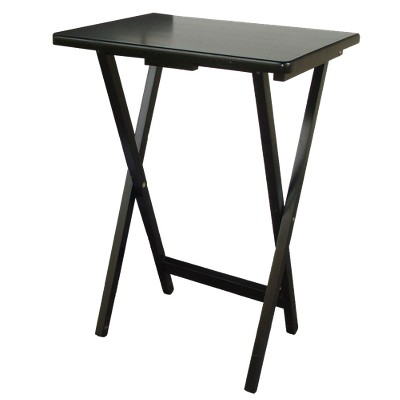 TV Tray Wood Black - Plastic Dev Group