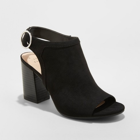 Women's Rhea Open Toe Stacked Heeled Pumps - A New Day™ - image 1 of 3