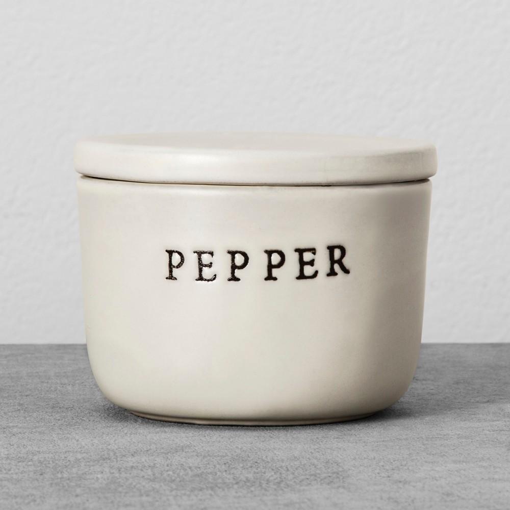 Image of Stoneware Pepper Cellar Cream - Hearth & Hand with Magnolia, Beige