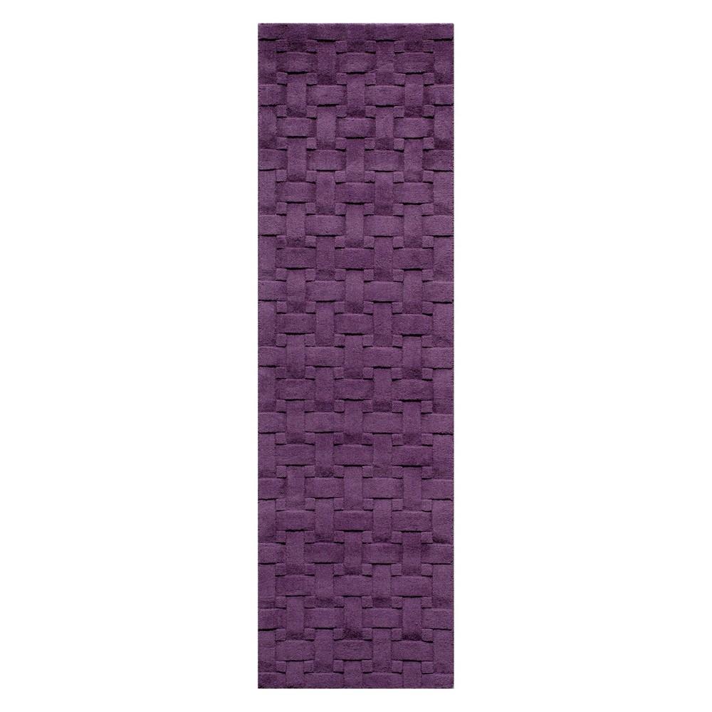 2'3X8' Solid Tufted Runner Plum (Purple) - Momeni