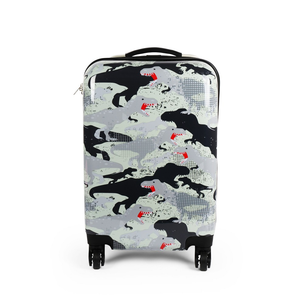 "Image of ""Love 2 Design 20"""" Kids' Hardside Suitcase - Dino Camo, Boy's, Pink"""