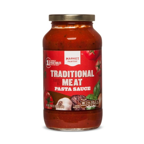 Pasta Sauce Flavored with Meat - 24oz - Market Pantry™ - image 1 of 1