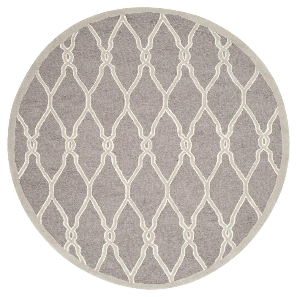 Safavieh Orli Area Rug - Dark Grey / Ivory ( 6' Round ), Dark Gray/Ivory