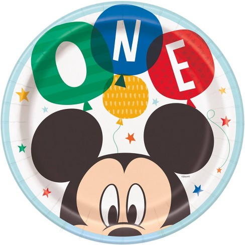 Mickey Mouse 8ct 1st Birthday Dinner Plate - image 1 of 1