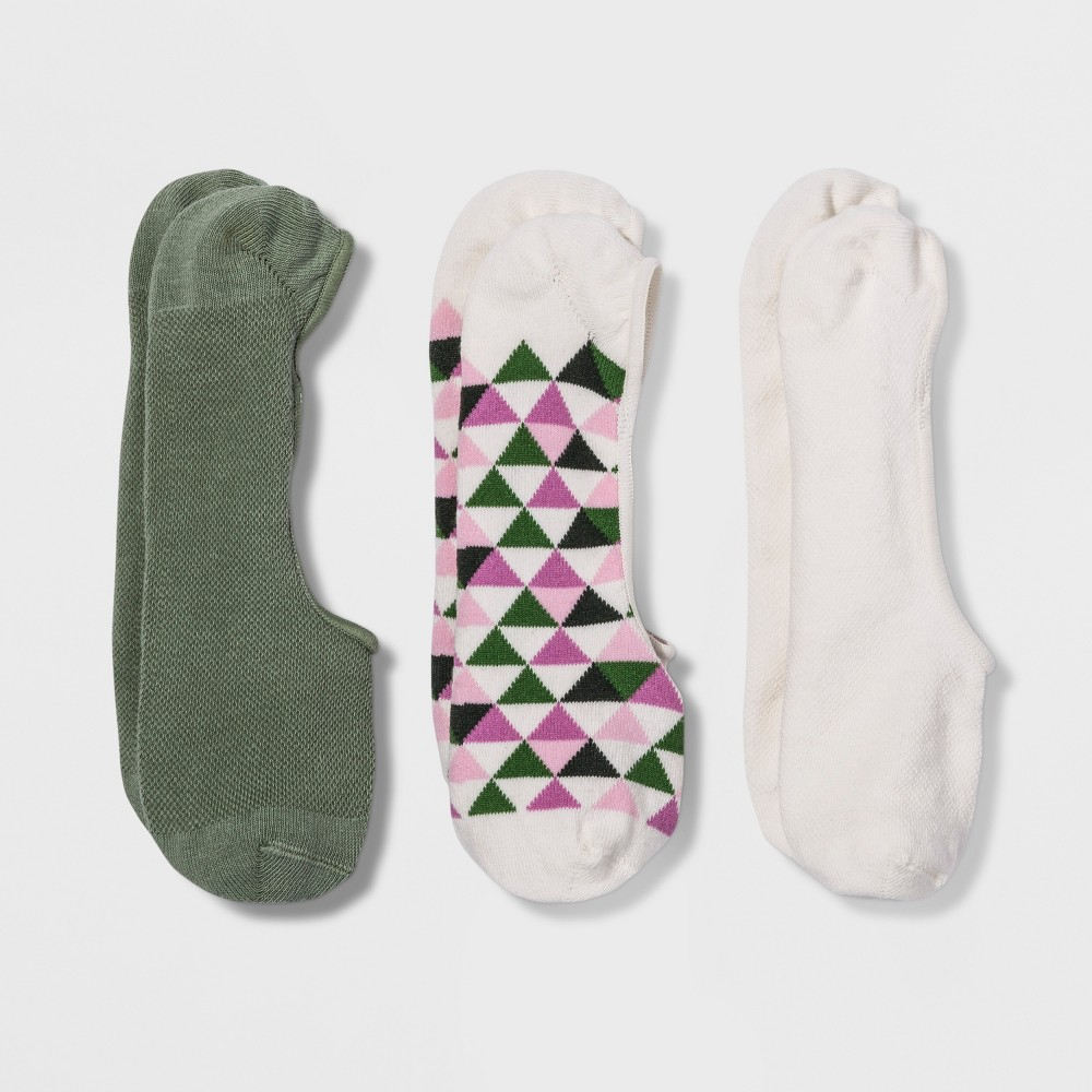 Women's 3pk Liner Socks - A New Day Colors Vary