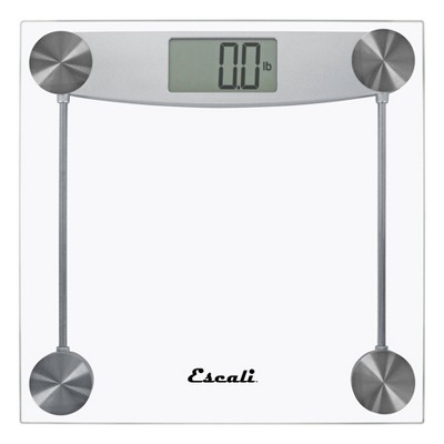 Digital Glass Bathroom Scale Clear - Escali