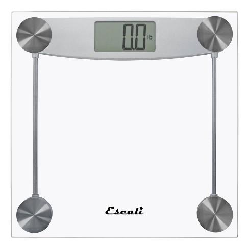 Digital Glass Bathroom Scale Clear - Escali - image 1 of 4