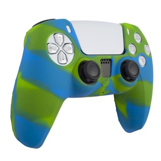 Insten Silicone Skin Cover Case Compatible With Sony PlayStation PS5 Controller, Camouflage Green Blue : Target