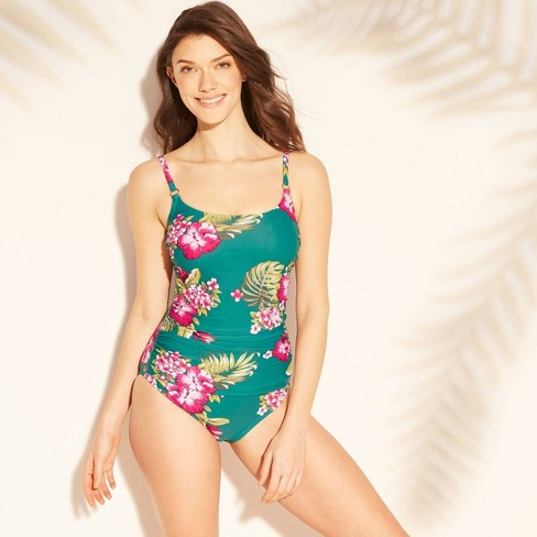 online retailer wholesale outlet release date Women's Strappy Back One Piece Swimsuit - Kona Sol™ Woodsy Green