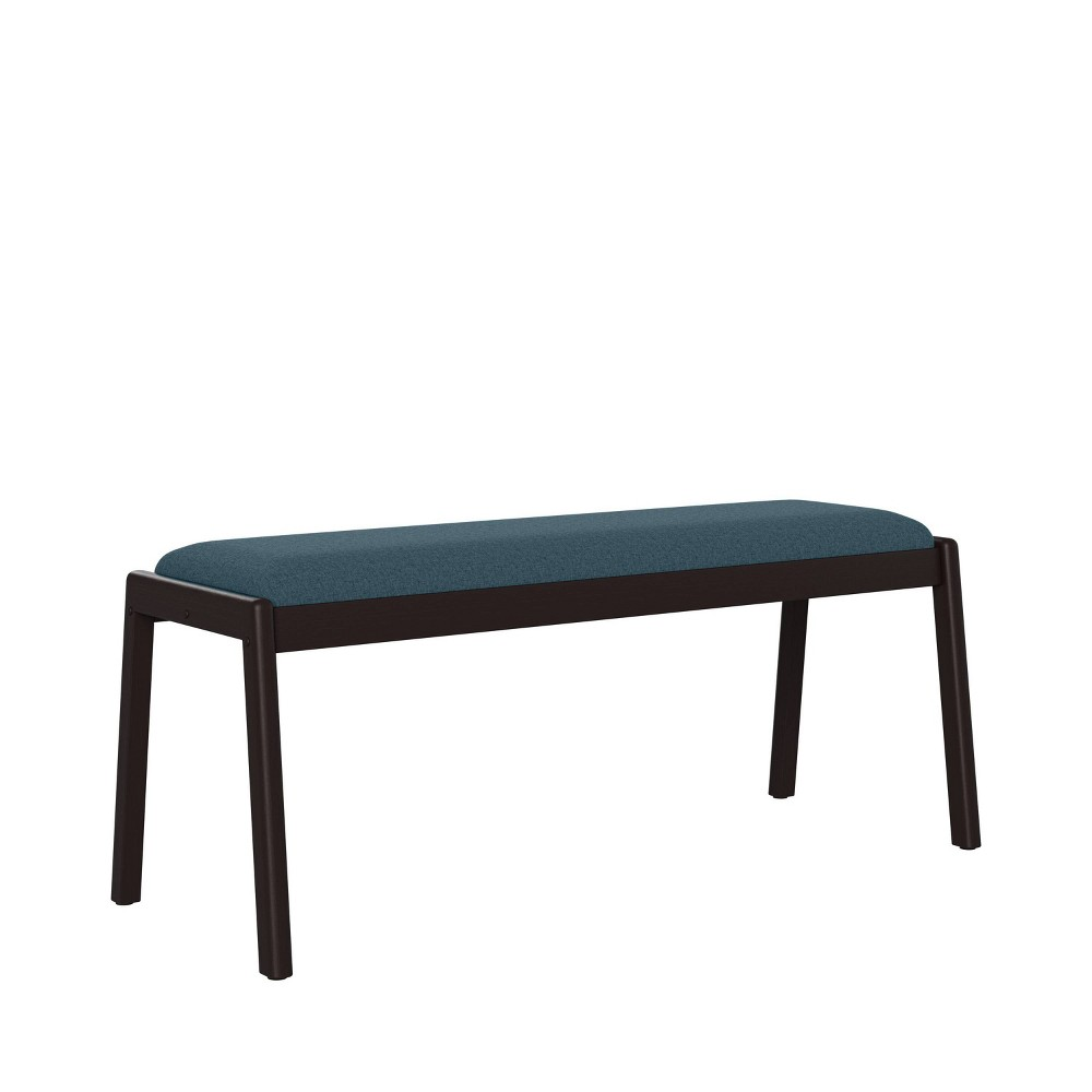 Millie Brown Finish Armless Dining Bench Blue Handy Living