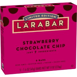 Larabar Strawberry Chocolate Chip The Original Fruit & Nut Food Bars - 8oz