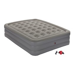 Coleman GuestRest Double High Air Mattress with External Pump Queen - Gray