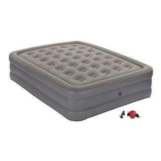 Coleman GuestRest Double High Airbed with External Pump Queen - Gray/White