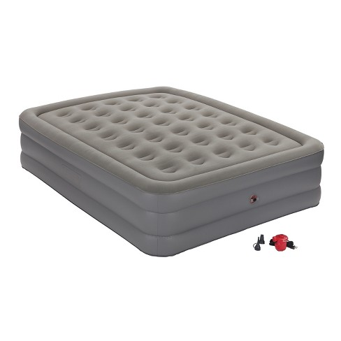 Coleman® GuestRest Double High Airbed with External Pump Queen - Gray/White - image 1 of 8