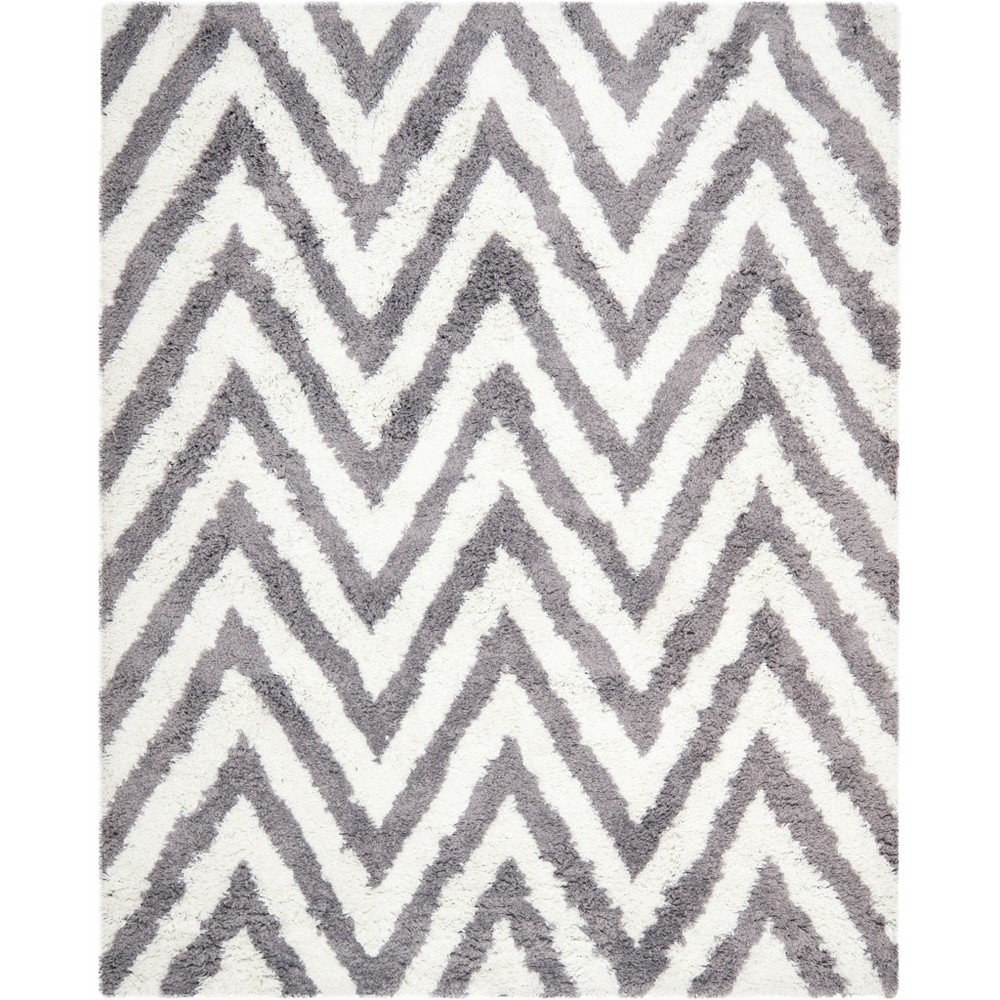 Solid Tufted Area Rug Champagne/Light Gray