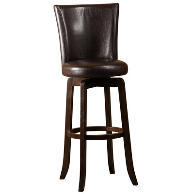Copenhagen Swivel Counter Height Barstool Brown - Hillsdale Furniture