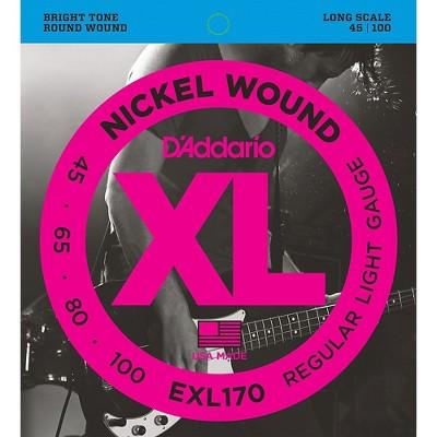 D'Addario EXL170 Nickel Wound Bright Round Wound Electric Bass Strings