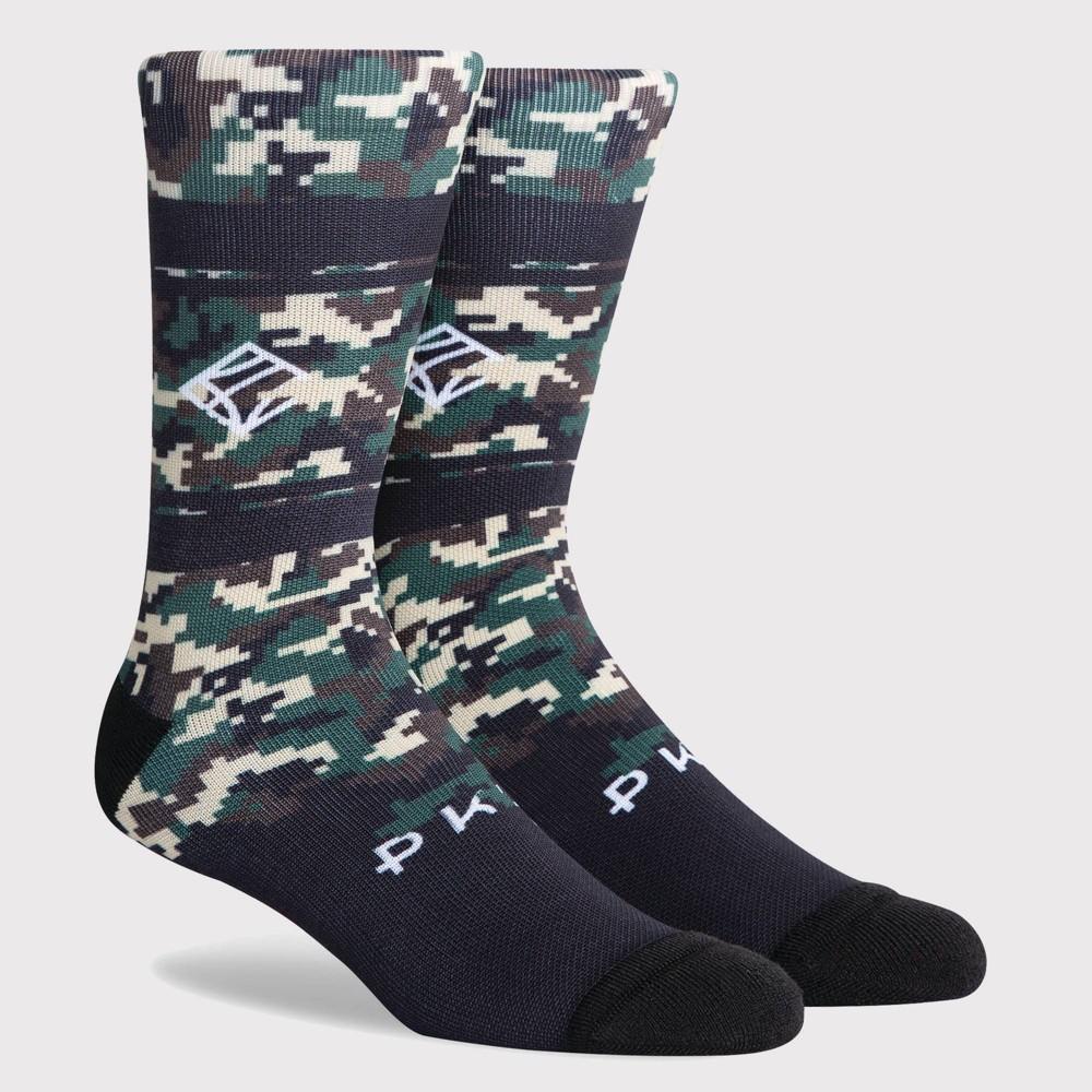 Pkwy By Dwyane Wade Men 39 S Crew Socks Camouflage Khaki Black L
