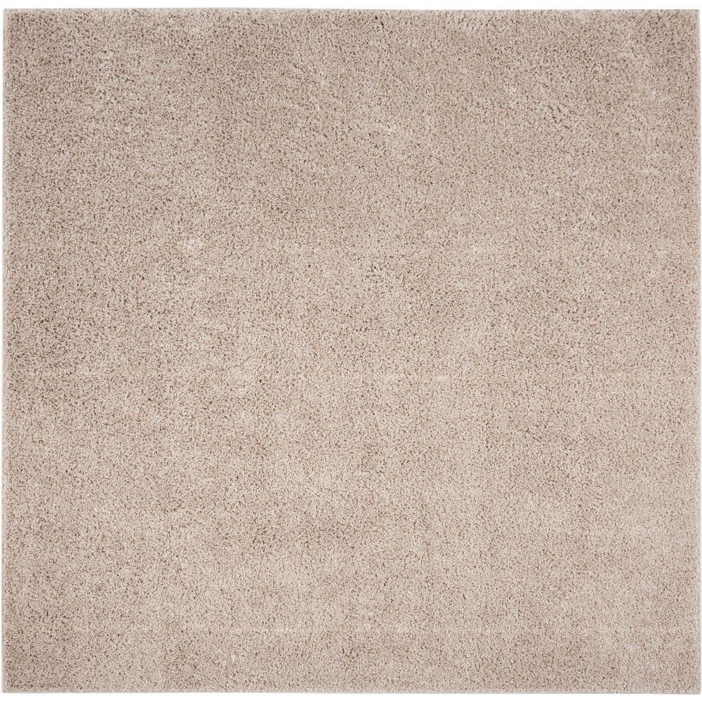 6 39 7 34 X6 39 7 34 Solid Loomed Square Area Rug Light Brown Safavieh