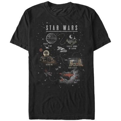 Men's Star Wars Cartoon Map Quest T-Shirt