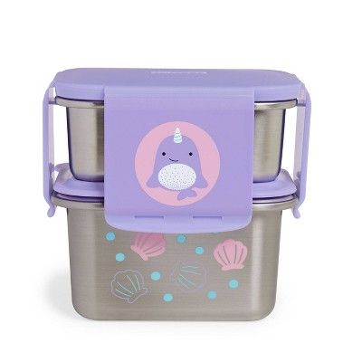 Skip Hop Zoo Stainless Steel Lunch Kit - Narwhal