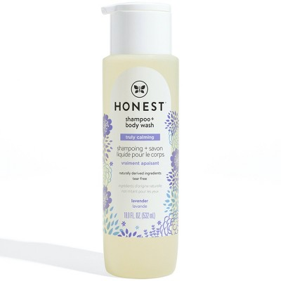 The Honest Company Truly Calming Shampoo & Body Wash Lavender - 18 fl oz