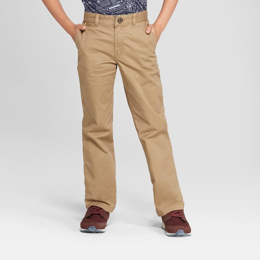 Boys' Chino Pants - Cat & Jack Brown 8