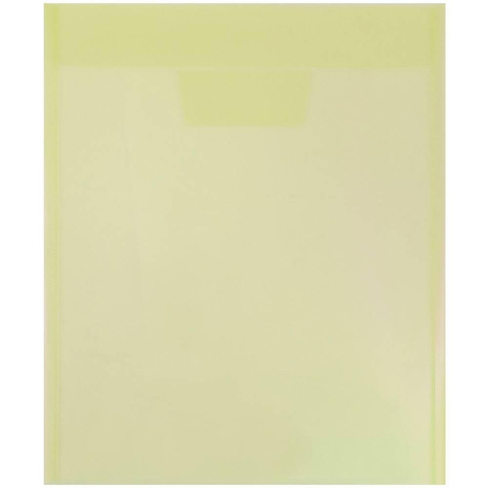 Jam Paper 9 7 8 X 11 3 4 12pk Plastic Envelopes With Tuck Flap Closure Letter Open End Yellow