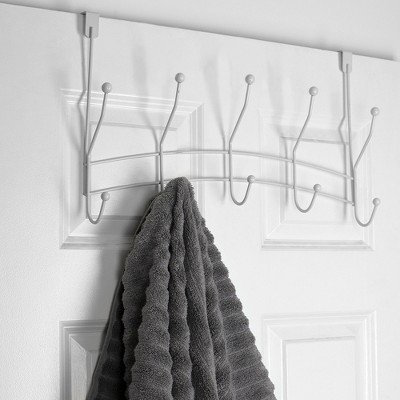 Home Basics Shelby 5 Hook Over the Door Hanging Rack