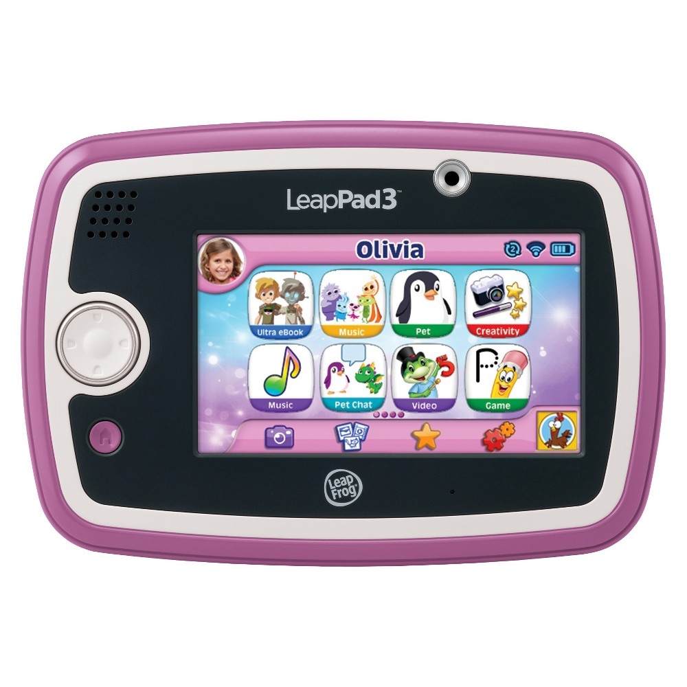 LeapFrog LeapPad3 Kids' Learning Tablet - Pink From the makers of the #1 kids' learning tablet**, comes LeapPad3, a high-performing Wi-Fi tablet for ages 3 to 9 that's packed with fun. From its kid-safe web to its educator-approved library*, there are worlds to explore. Plus this compact tablet features LeapFrog's fast new quad-core processor. Gender: Unisex.
