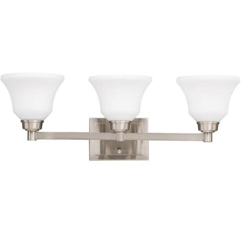Kichler 5390 Langford 26 5 Wide Three Bulb Bathroom Lighting Fixture Brushed Nickel